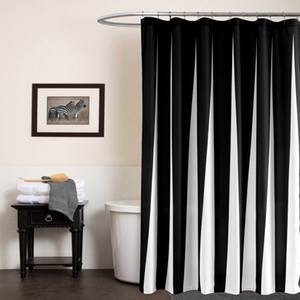SunnyRain 흑인과 백인 현대 샤워 커튼 방수 폴리 에스터 목욕 커튼 블루 Cortina ducha donchegordijn