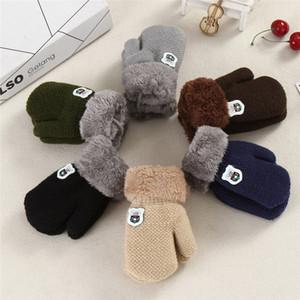Новое прибытие зима мальчики девочки вязаные перчатки теплые веревки полный палец варежки перчатки для детей Малыш дети TO997