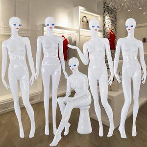 Nueva llegada Gloss White Female Mannequin Full Body Mannequin Women Fabricante profesional en China