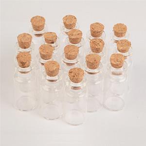 2 мл мини-пустые стеклянные бутылки с пробкой 16 * 35*7 мм маленькая желающая бутылка стеклянные флаконы банки 100 шт. / лот
