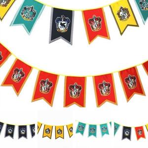 Disposizione film di Harry Potter Cos Banner decorazioni di festa Attività Terra partito di modo delle Bandiere Garden Banner all'ingrosso della fabbrica T7I390