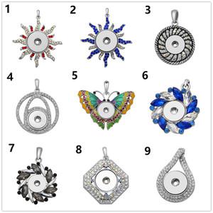 Новые кристалл бабочки формы кнопки оснастки ожерелье имбирь оснастки с цепочкой Fit 18 мм шарм diy ювелирные подарки