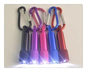 최고의 휴대용 미니 LED 손전등 키 체인 Carabiner 링 키 링와 알루미늄 합금 토치 LED 미니 손전등 미니 빛 무료 배송