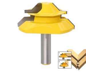 """8mm Shank Lock Mitre Router Bit Fresas Cortador De Madeira De 45 Graus Carbide 3/4 """"Estoque para Carpinteiro Ferramentas Para Trabalhar Madeira"""