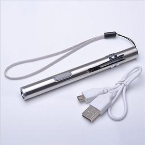Torcia a LED ricaricabile USB Torcia a LED impermeabile di alta qualità con mini torcia a LED Cree LED con clip in metallo
