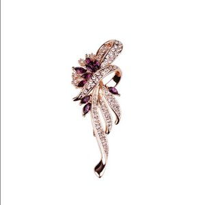 2018 nouveau corsage féminin de broche de cristal de mode de luxe contracté atmosphère de joker épingle décoratif haute qualité vêtements collier accessoires de collier