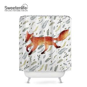 Il nuovo disegno del fumetto Fox bagno cortina di poliestere impermeabile Shower Curtain all'ingrosso ganci 180CM * 180cm tende Bagno Personalizza