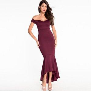 Moda Yaz yeni Kolsuz Göğüs yara Backless seksi V yaka Kalçalar Fishtail kolye elbise kadın Giyim elbiseler 60171
