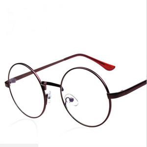Occhiali da vista rotondi in metallo da uomo con montatura in metallo Occhiali da vista con lenti miopia Ottica Occhiali da vista Montatura per occhiali da vista per donna