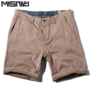 MISNIKI 2018 streetwear cotton men summer shorts solid color male cargo work shorts 30-38 MDK25