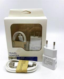 2 en 1 kits de chargeur 2A 2000mA fiche américaine EU Accueil mur Chargeurs MINI Adaptateur USB + 80cm MICRO USB CABLE avec emballage vendu au détail Pour SAMSUNG