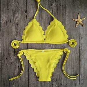 Femme Bikini Sexy String Bandage Woman Swimsuit Lady Swimwear Mujer Costume Da Bagno Donna Цветочные кружева Два костюма для костюмов 20dx V