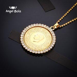 Горячие продать ближневосточный мусульманский Ислам мусульманский халяль портрет Алмаз ожерелье дамы мужчины ожерелье