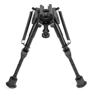 Bahar Dönüş Sniper Avcılık Tüfek Bipod Sling Döner Yüksekliği Bahar Bipod Avcılık Döner Ayarlanabilir Bacak Uzunluğu ile Salıncak-mümkün