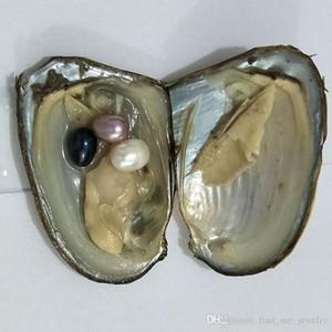 Toptan Packaging Oval Oyster Pearl 7-10mm yeni beyaz pembe mor siyah Tatlı su Doğal Yuvarlak Hediye DIY İnci Gevşek süslemeler Vakum