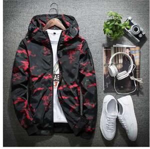 Spring Autumn Mens Casual Camouflage Hoodie Jacket Men Waterproof Clothes Men's Windbreaker Coat Male Outwear 4XL