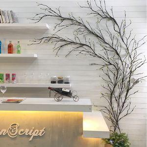 ramas decoración falso artificial de árboles que cuelgan guirnaldas flexible de pared de la vid de plástico colgante de ratán DIY boda jardín decoración del hotel