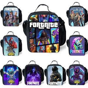 2018 Anime Stampe Termico Insulated Lunch Bags Men Boys Cooler portatile Lunch Box Picnic Girl Women Backpack