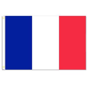 Drapeaux français bannière taille 3x5FT 90 * 150cm avec oeillet en métal, drapeau extérieur