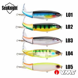 SeaKnight الصيد السحر SK050 SK051 الهائل Plopper 5PCS / الكثير ضربات 90mm 130MM 39g وتناوب الذيل VMC هوك بيت الصلب مجموعة الصيد السحر