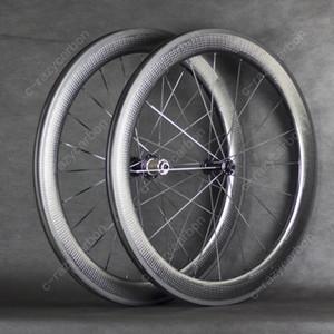 خاص الفرامل سطح الدمل عجلات الكربون 58MM الفاصلة الطريق الدراجة الكربون عجلة 700C الطريق الدراجة