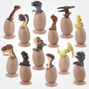 12Pcs Set dinosaur Action Figures toys cartoon Dinosaur Eggs Model Dolls Kids Gift Home Decoration C4596
