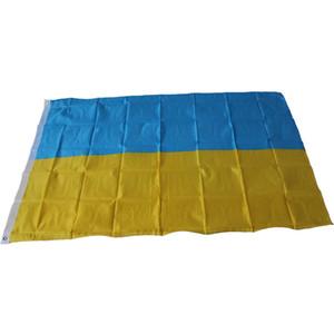 90 x 150 cm Bandeira de Ucrânia Grande Bandeira-3FT X 5FT Pendurado Bandeiras Nacional da Atividade de Ucrânia Festival Festival Home Jarda Outdood Decor