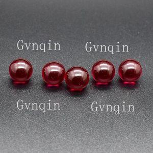 150 unids / lote envío libre por DHL 3A laboratorio creado rubí # 5 granos lisos sin agujero Máquina Cortar piedras de cuentas redondas sueltas