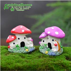 2 style micro mini fairy garden miniatures figurines mushroom house Action Figure Toys ornament terrarium accessories movie props