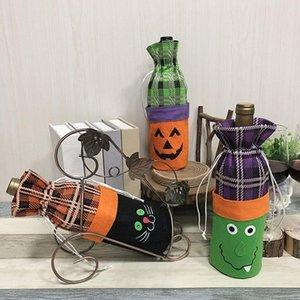 Halloween décoration bouteille de vin mis créatrice sorcière citrouille vin rouge champagne bouteille sac bar atmosphère habiller