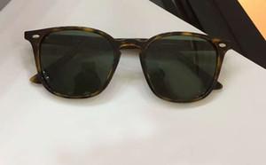 Unisex Vintage Óculos De Sol Havana Lentes Verdes 52mm Moda Marca Óculos De Sol Novo com Caixa