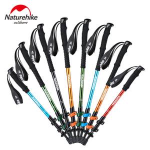 Naturehike Alpenstocks Ultralight Trekking Katlanır Kutup Yürüyüş Yürüyüş kamp aile Alpenstocks C18110601 sticks