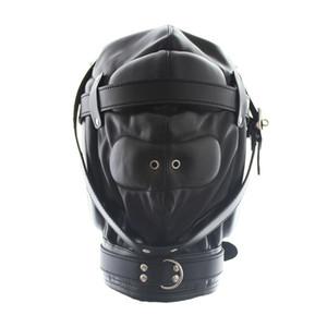 Новый PU головы капюшоны раб головы маски съемный Маска БДСМ бондаж удовольствие Маска секс-игрушки для взрослых продукты