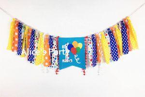 New Chic Rainbow Balloon Banner Kids 1st Fiesta de cumpleaños Trona Trona Bunting Nursery First Garland Cake Smash Photo prop