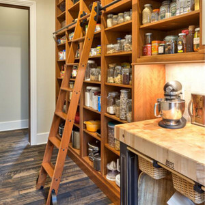 3.3ft (100 سنتيمتر) الأسود انزلاق الحديثة غرفة المعيشة الرئيسية مكتب مطبخ مخزن مكتبة المتداول سلم الأجهزة المسار كيت (لا ladde