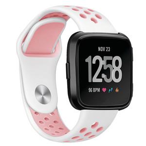 para Fitbit Versa Bands, correa de silicona para pulsera deportiva con orificios de ventilación para 2018 Fitbit Versa Smart Watch