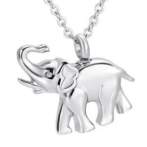 Memorial Keepsake Urn Anhänger Feuerbestattung Ash Urn Charm Halskette Schmuck Edelstahl Cute Elephant Memory Medaillon - Vater und Mutter