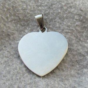 100 pz / lotto cuore bianco in acciaio inox cane tag di identificazione tag moda uomo pendenti wholsale etichette nome cane