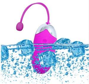 Vibradores de silicona Aplicación de vibrador recargable Salto para womanos remotos Control Toys Toys Vibrating Egg Wireless Sex Bluetooth para huevo Sexu XLQO