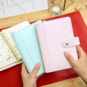 Reißverschluss Planer A6 Reiseberichte Ring lose Blatt Spirale Notebook Macaron Binder Tagebuch Tagesordnung Veranstalter harphia