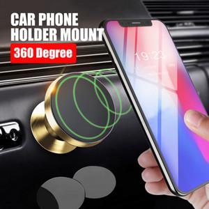 Soporte universal para teléfono de metal Soporte magnético 360 Rotación Cabeza giratoria Para soporte para teléfono celular accesorios para automóvil