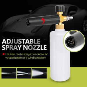 """Arandela de presión de 1L de espuma con rociador para autos Arandela a presión 1/4 """"Liberación rápida Ajustable espuma de nieve Lance Foam Cannon herramientas Car Styling"""