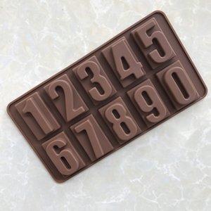 DIY 쿡 몰드 실리카 젤 초콜릿 모델 0-9 디지털 실리카 젤 초콜릿 모델 빙 Gemo 베이킹 특수 목적 해
