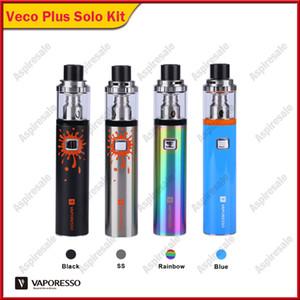 Authentique Vaporesso VECO PLUS SOLO Starter Kit W / 4 ml Réservoir intégré 3300mAh Batterie d'origine Style Pen Vape Starter Kit