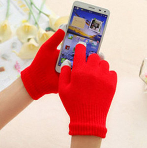 الرجال لمس الشاشة قفاز النساء guantes بالسعة يندبروف القفازات قفازات الهاتف الذكي الشتاء الناعمة العديد من الألوان للاختيار