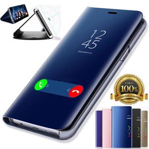 Custodia rigida in pelle per smartphone con display a specchio per Huawei P20 Pro Lite Plus P10 P9 Plus