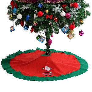 """3 pcs 36"""" Red Christmas Tree Skirt New Year Xmas Tree Carpet Merry Santa Claus Christmas Decorations for Home Outdoor Decor 2018"""