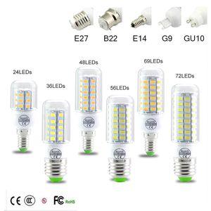 SMD5730 E27 GU10 B22 E14 G9 Светодиодная лампа 7 Вт 12 Вт 15 Вт 18 Вт 20 Вт 220 В 110 В угол наклона SMD Светодиодная лампа Led Corn light