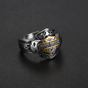 2018 Men's Biker Stainless Steel Skull Ring Gothic Punk Retro Sport Biker Skeleton Jewelry Fashion Steampunk Rings