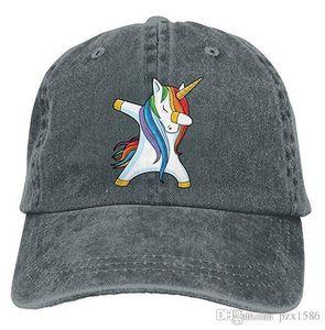 pzx @ Baseball Cap للرجال ، Dabbing Unicorn للرجال قبعة جينز جينز قابلة للتعديل متعدد الألوان اختياري